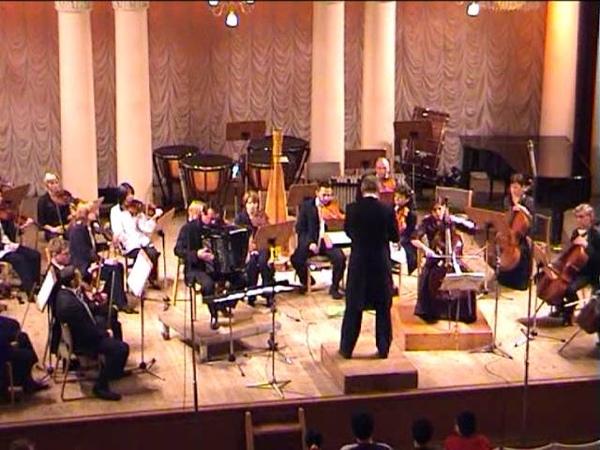 Sofia seven last words Partita for Cello Bayan and String Orchestra