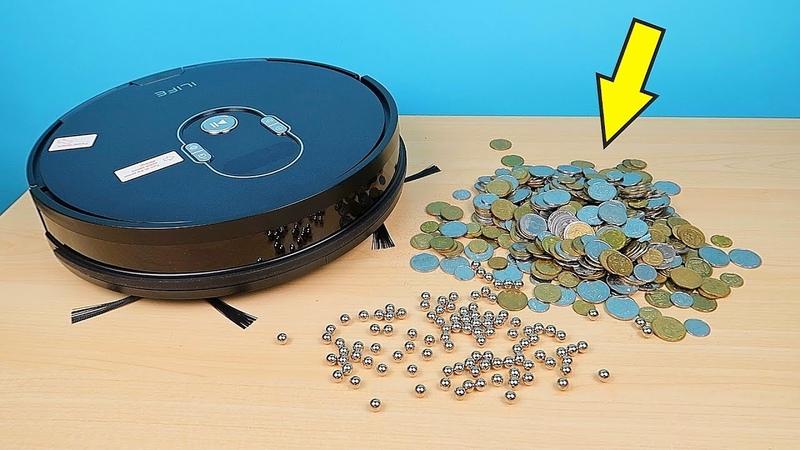 Робот Пылесос Ilife A7 против Железных шариков и Монет alex boyko