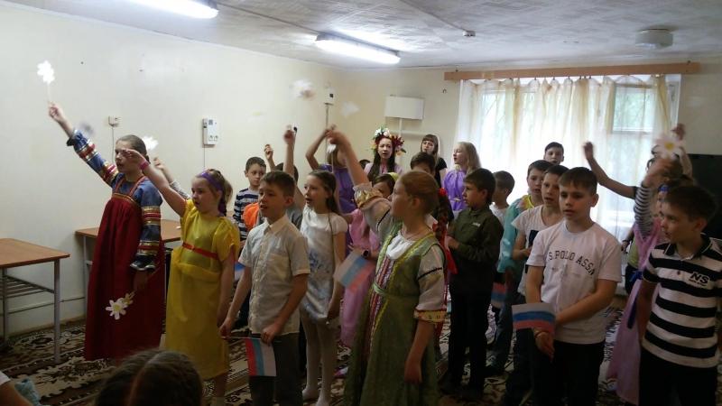 День России. 11 июня 2018г. Первая смена православного лагеря