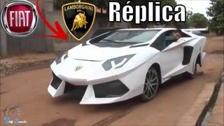 Homem transforma Fiat Uno em réplica de Lamborghini Aventador