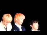 so this was the part where kook accidentally stood up on taehyungs part instead after him, look at taes pouty face uwu -