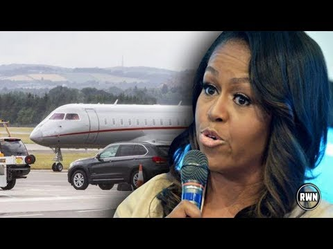Jealous Michelle Takes Off To UK Right After Trumps Leave, Gets Nasty Surprise When She Lands