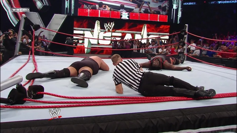Big Show and Mark Henry obliterate the ring World Heavyweight Championship WWE Vengeance 2011