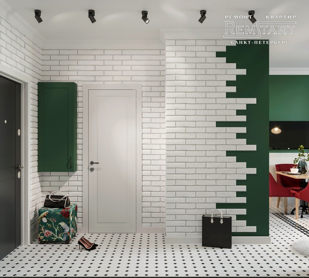 Проект квартиры-студии 26 м.