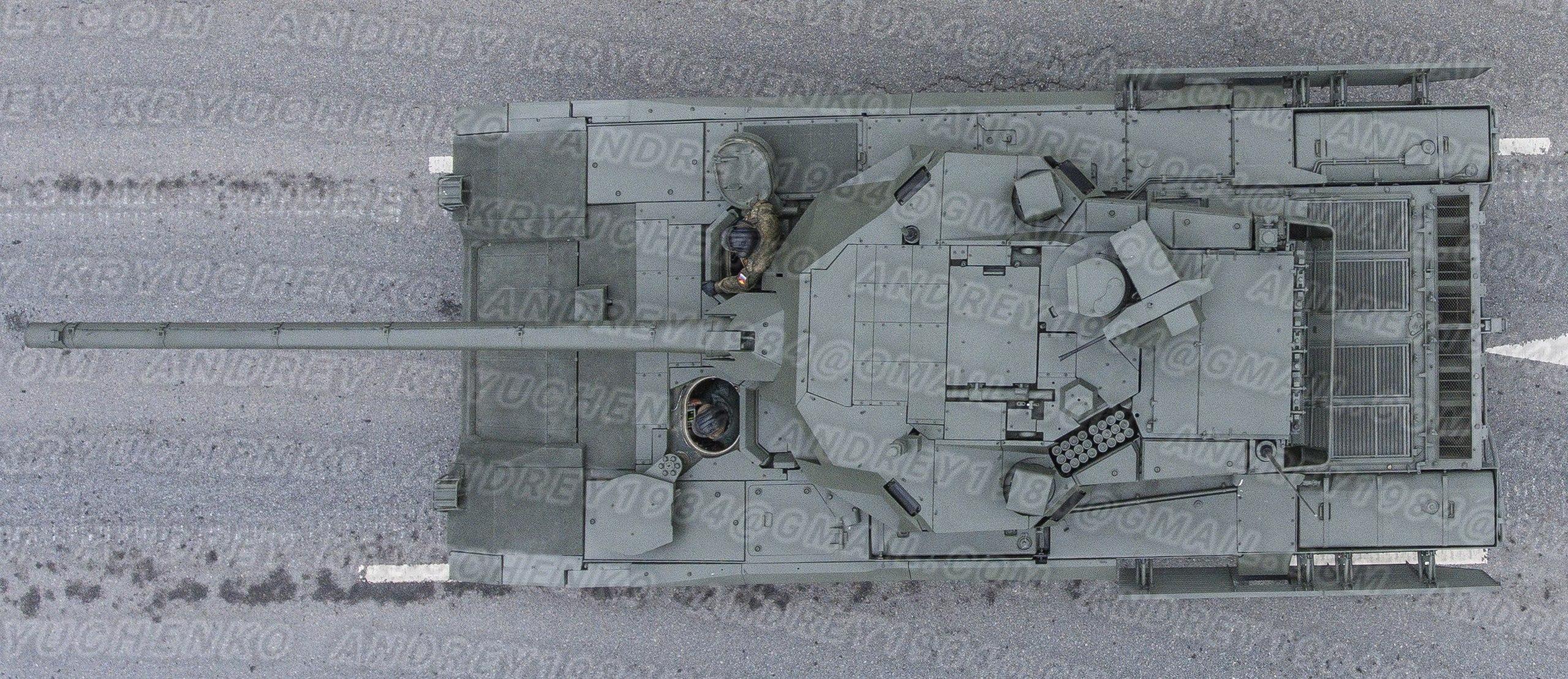 T-14 Armata, top view.