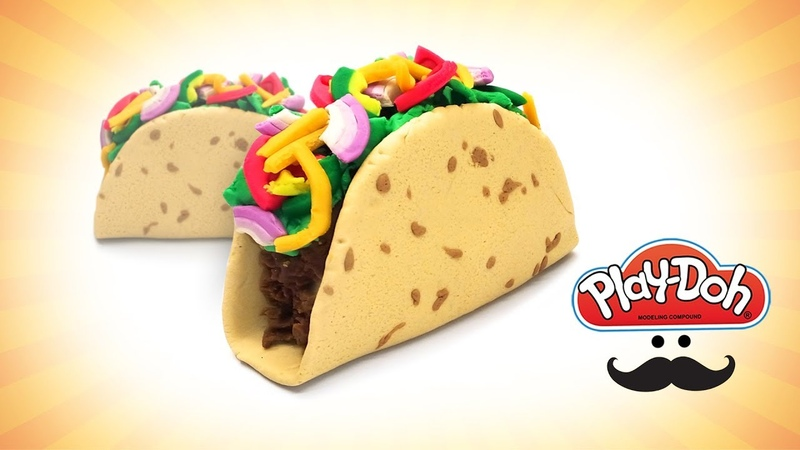 Play Doh Taco. Dolls Food Tutorial. How to Make Like Real Taco. Learn Colors. Easy DIY Toy for Kids