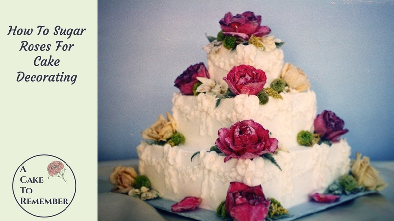 How to sugar flowers for cake decorating Cake decorating tutorials