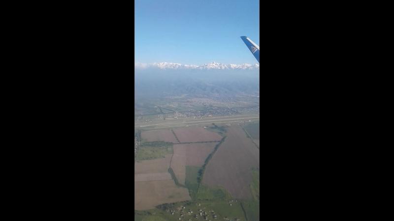 Горы Алатау с высоты птичьего полёта.