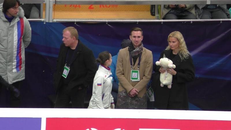Alina Zagitova GP Moscow Cup 2018 SP before WU