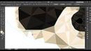 😇ЕНОТ в полигональном стиле в Adobe Illustrator! Уроки по Иллюстратору на Aleks Online Kurs!