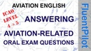 How to answer aviation English oral exam questions - FluentPilot