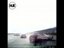 В Башкирии два автомобиля не поделили дорогу на перекрестке