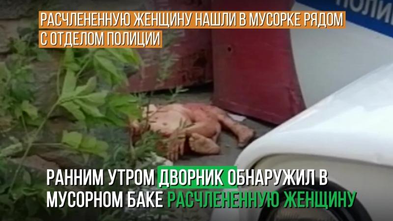 Расчлененную женщину нашли в мусорке рядом с отделом полиции 18_1080p