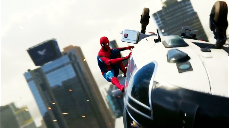 Spider-Man chases the helicopter (Spider-Man PS4 best moments)