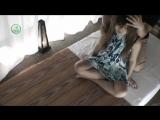Korean Girl having body stretching Massage Therapy