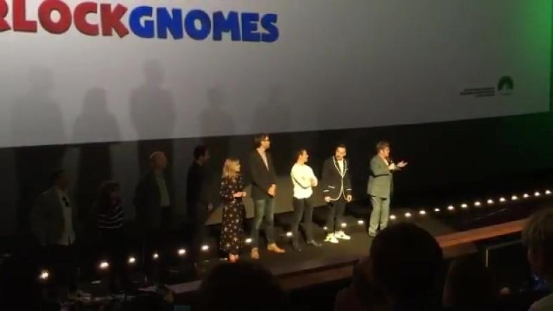 Sir Elton John introduced this morning's Sherlock Gnomes screening