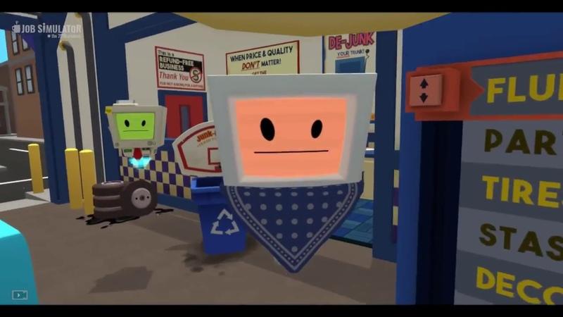 VR ПРИКОЛЫ отбитый механик в Job Simulator