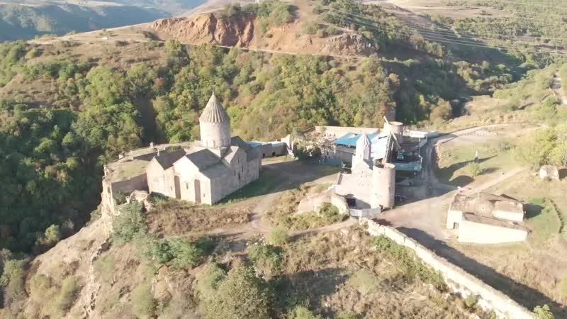 Татевский монастырь с высоты птичьего полета