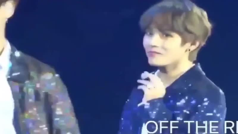 Jungkook walking confidently on taes direction and patting him on the back, look at the wa