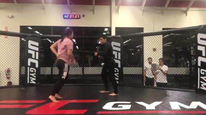 UFCOrlando Jessica Andrade Открытая тренировка.