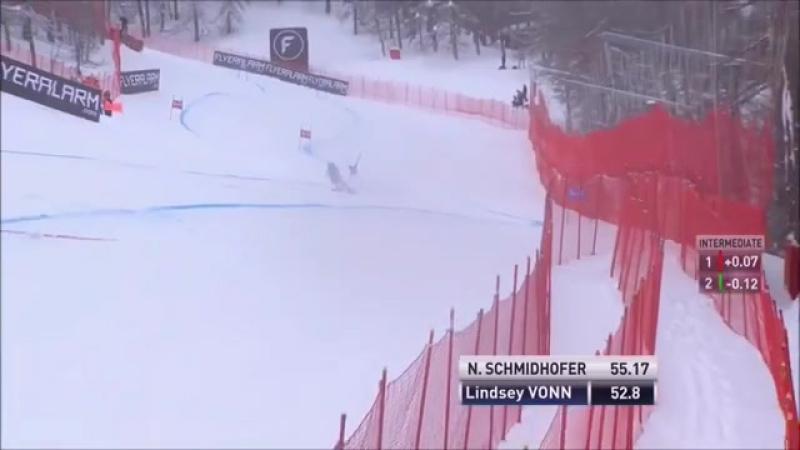Победный спуск Линдси Вонн🇺🇸 в Валь д'Изере🇫🇷SG 16.12.17.