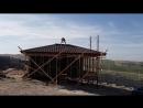 Завершение этапа кровельных работ вальмовой крыши
