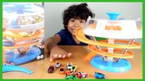 Car Videos for Kids-Spin Parking Garage Playset! Micro Fast Toys Cars for Children - Mini Car Play