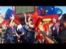 Ростов, спортивные крики бельгийских болельщиков, июль ЧМ-2018