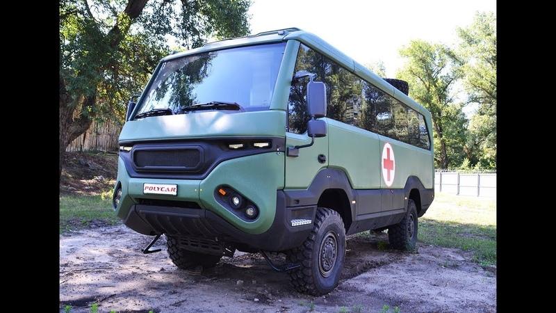 Медицинский автобус 4х4 Torsus Praetorian, производства ТМ Polycar.