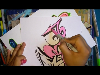 Drawing graffiti on paper #7 _ Name request _ Debo Da Pro