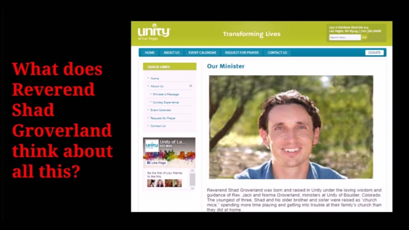 Rev. Shad Groverland and Unity Vegas/Boulder Endorse Mas Sajady, Hitler Student Dirty Sex Guru