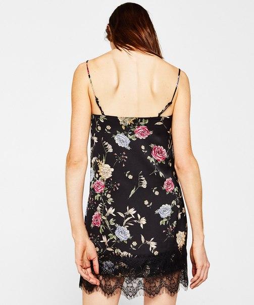 Платье в бельевом стиле с цветочным принтом