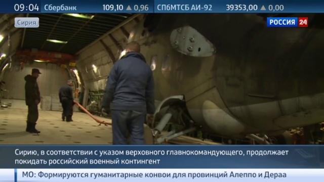 Новости на Россия 24 • Российские ударные вертолеты вернулись из Сирии в Россию на Руслане