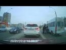 Драка таксиста и водителя маршрутки