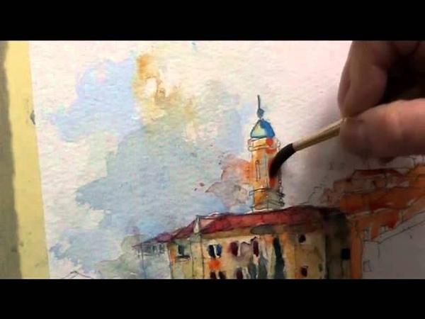 Watercolor demo Gerard Hendriks Assisi