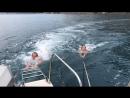 Морские покатушки на веревке за катером 👍