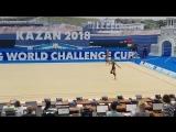 Дина Аверина - обруч (опробование) // World Challenge Cup 2018, Казань