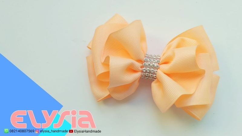 Laço Ruffle 🎀 Ribbon Bow 🎀 DIY by Elysia Handmade