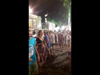 Бразилия. Сальвадор. Бразильский карнавал. Район Pilorinio