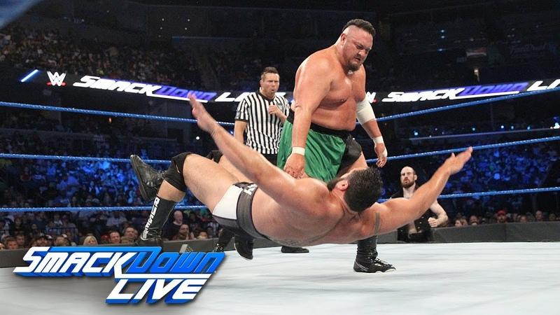 Rusev vs. Samoa Joe - with Special Guest Referee The Miz: SmackDown LIVE, June 12, 2018