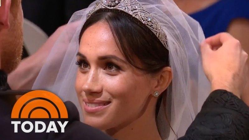 Royal Wedding Prince Harry Lifts Meghan Markle's Veil | TODAY