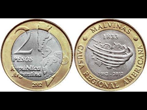 Республика АРГЕНТИНА 2 ПЕСО 2012 года Мальвинские острова 30 лет войне за Фолкленды