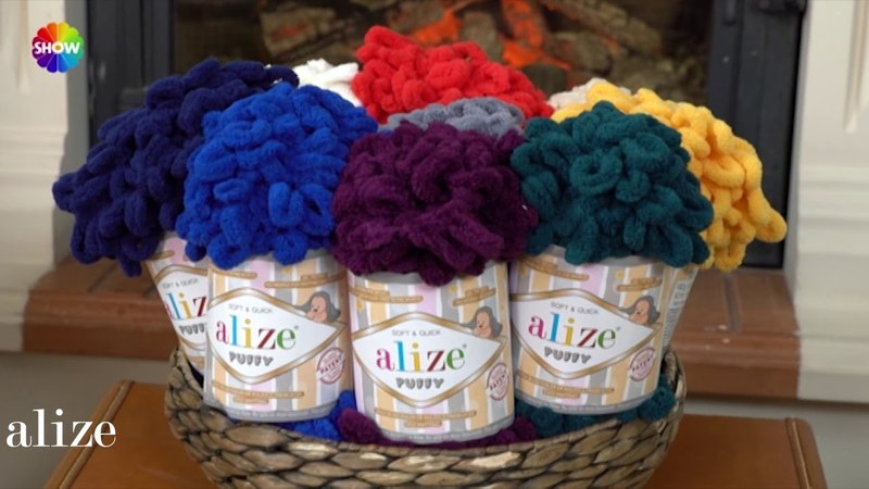 Alize Puffy ile Bere ve Boyunluk Yapımı Making Cowl and Beret with Alize Puffy