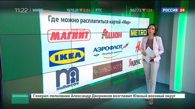 Новости на Россия 24 • Сбербанк России начал обслуживать карты Мир