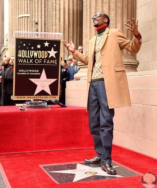 снуп дог на открытии его звезды на аллее славы поблагодарил самого близкого человека - себя накануне на аллее славы была открыта звезда рэпера снуп дог. голливудская аллея славы насчитывает уже более 2500 звезд знаменитостей из мира кино и