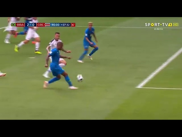гол Неймара - Brasil 2 x 0 Costa Rica - Copa do Mundo 2018