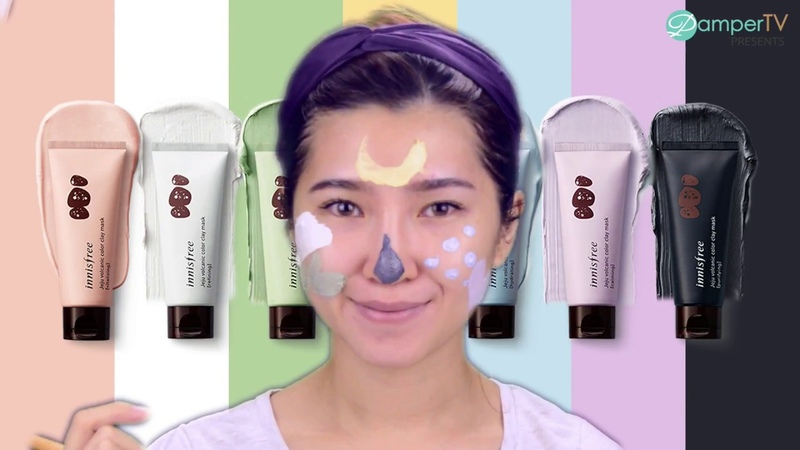 Multi-Masking with innisfree Jeju Volcanic Color Clay Mask [Review] | PamperHowTo
