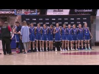 Награждение баскетбольной команды Динамо (Курск) - чемпионок России среди девушек 2004 года рождения 06.05.2018