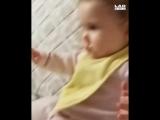 Малышка напугала папу