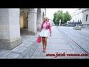 Collant talons aiguille jupe courte sensual legs walk pantyhose high heels mini pleated skirt